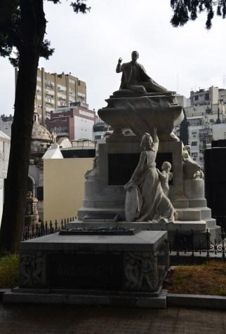 Tomb of Carlos Pellegrini at Cementerio de la Recoleta in Buenos Aires, Argentina