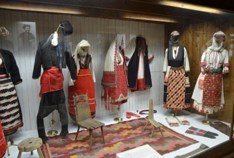 Traditional costumes from Asia Minor at the Ethnographic Museum in Varna, Bulgaria