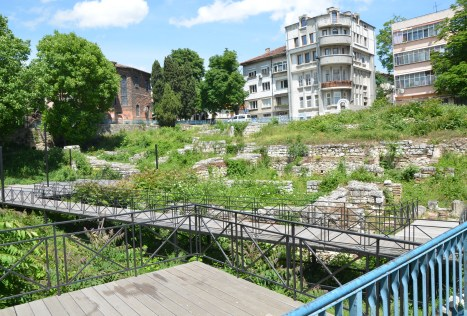 Roman baths near the City History Museum in Varna, Bulgaria
