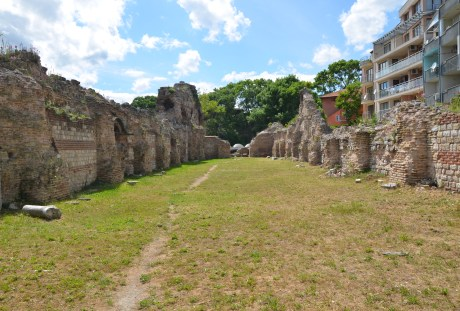 Roman baths in Varna, Bulgaria