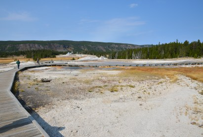 Geyser Hill at the Upper Geyser Basin in Yellowstone National Park, Wyoming