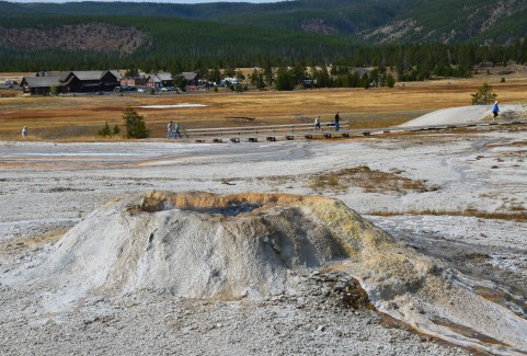 Sponge Geyser on Geyser Hill at the Upper Geyser Basin in Yellowstone National Park, Wyoming
