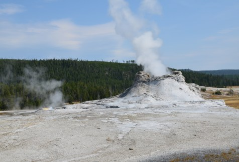 Castle Geyser at the Upper Geyser Basin in Yellowstone National Park, Wyoming