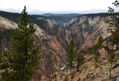 Inspiration Point at Grand Canyon of the Yellowstone in Yellowstone National Park, Wyoming