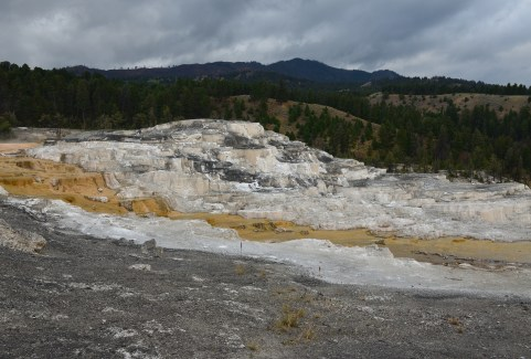 Minerva Terrace at Mammoth Hot Springs in Yellowstone National Park, Wyoming