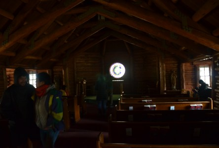 Chapel of the Sacred Heart on Teton Park Road in Grand Teton National Park, Wyoming