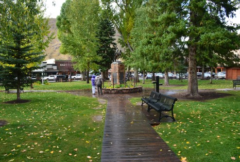 Jackson Town Square in Jackson, Wyoming