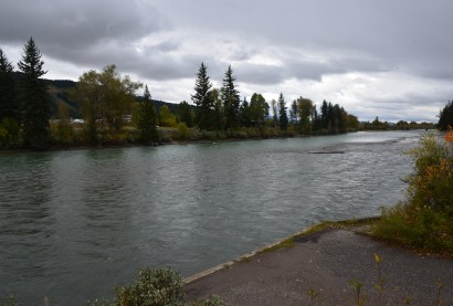 Snake River at Menor's Ferry Historic District in Grand Teton National Park, Wyoming