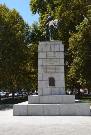 Plaza Bulnes in Santiago de Chile
