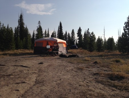 Grant Village Campground at Yellowstone National Park
