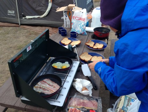Camp cookout at Grant Village Campground at Yellowstone National Park