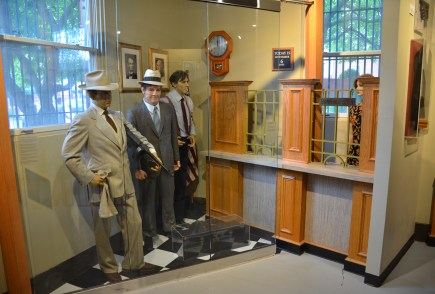 Bank robbers at the John Dillinger Museum in Crown Point, Indiana