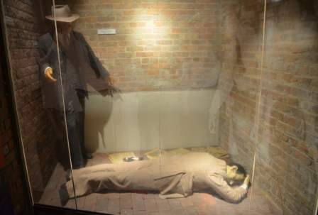 John Dillinger's death scene at the John Dillinger Museum in Crown Point, Indiana