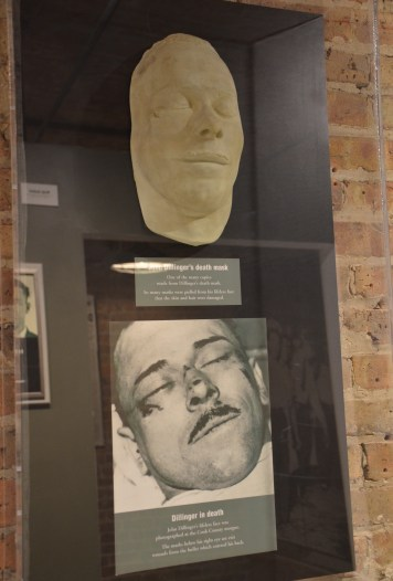 Dillinger's death mask at the John Dillinger Museum in Crown Point, Indiana