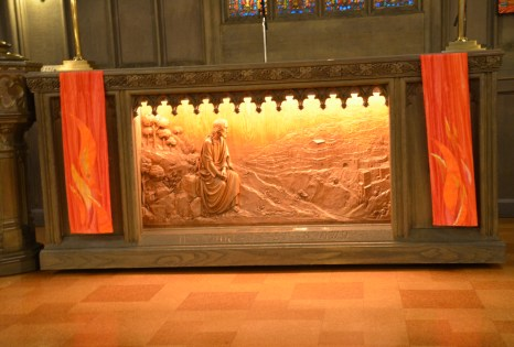 Christ weeping over Jerusalem in the First United Methodist Church at the Chicago Temple in Chicago, Illinois