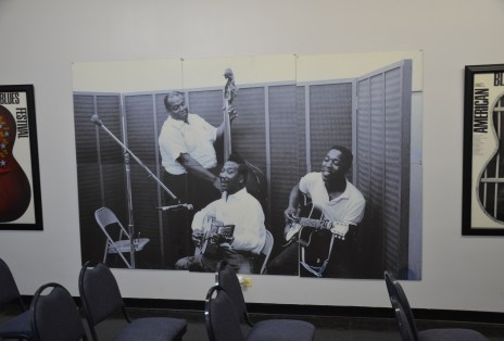 Photo in the studio at Chess Records building (Willie Dixon's Blues Heaven) in Chicago, Illinois