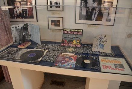 Chuck Berry memorabilia at Chess Records building (Willie Dixon's Blues Heaven) in Chicago, Illinois