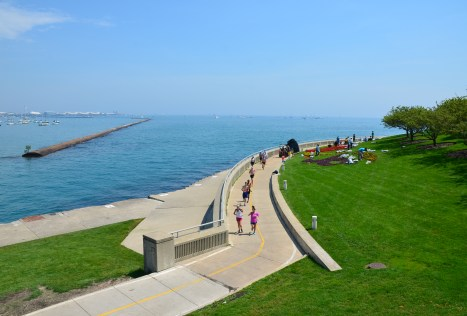 Lakefront Trail in Chicago, Illinois