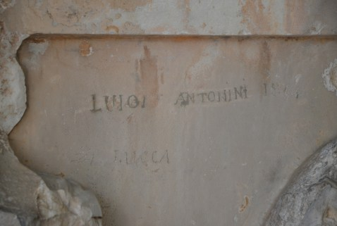 19th century graffiti at the Acropolis Museum in Athens, Greece