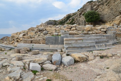 Tholos at Knidos on Datça Peninsula, Turkey