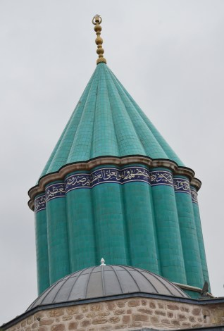 Tomb of Mevlâna at the Mevlâna Müzesi in Konya, Turkey