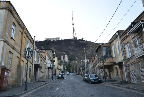 Mount Mtatsminda in Tbilisi, Georgia