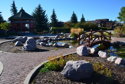 Chinese garden in Evanston, Wyoming