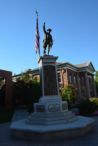 Doughboy monument in Evanston, Wyoming
