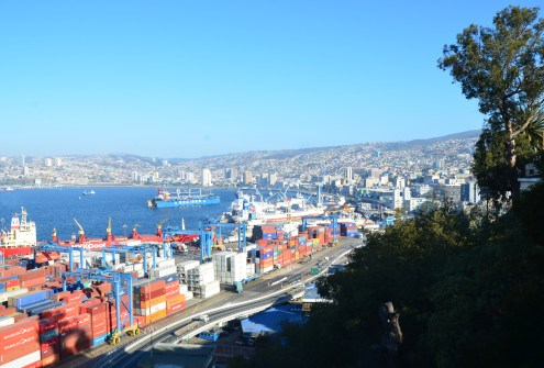 View from Paseo 21 de Mayo in Valparaíso, Chile
