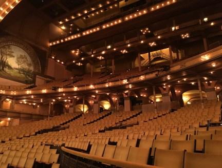 Main seating area in the Auditorium Theatre in Chicago, Illinois