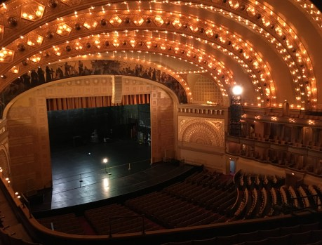 View from the middle level in the Auditorium Theatre in Chicago, Illinois