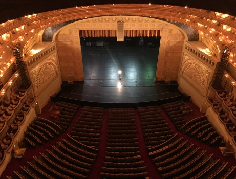 View from the top level in the Auditorium Theatre in Chicago, Illinois