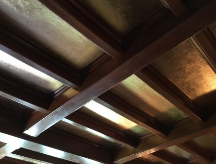 Dining room ceiling at the John J. Glessner House in Chicago, Illinois