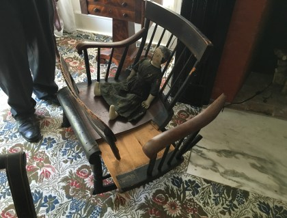Rocking chair / cradle at the Henry B. Clarke House in Chicago, Illinois