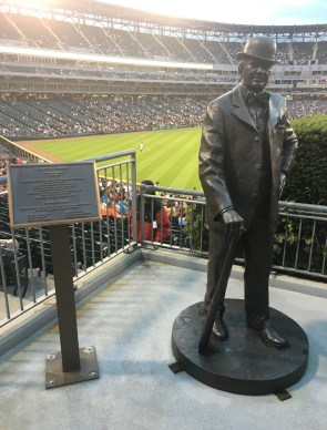 Charles Comiskey statue at Guaranteed Rate Field in Chicago, Illinois