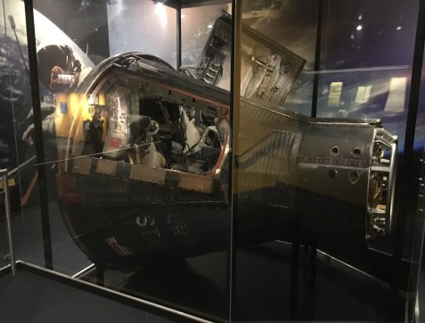 Gemini 12 capsule at Mission Moon at the Adler Planetarium in Chicago, Illinois