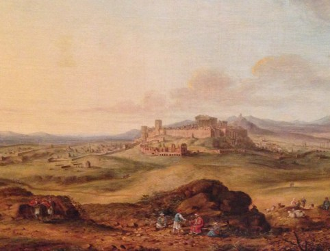 Painting of Athens in 1820 at the Benaki Museum in Athens, Greece