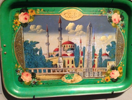 Decorative serving tray of Hagia Sophia at the Benaki Museum in Athens, Greece