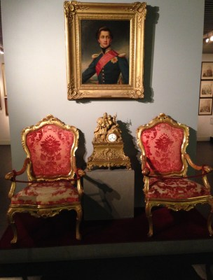 Chairs used at a reception for King Otto at the Benaki Museum in Athens, Greece