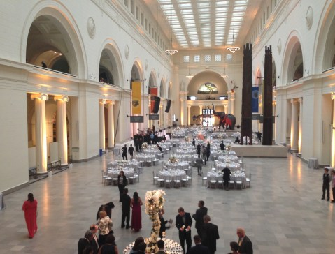 Field Museum during a wedding in Chicago, Illinois