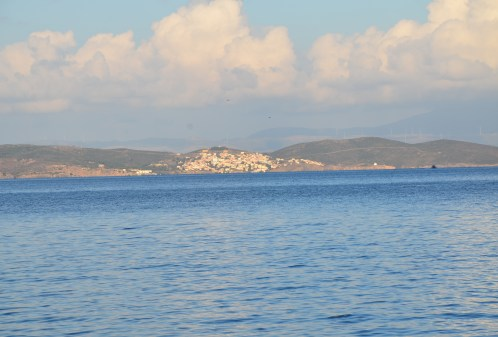 View of Oinousses from Lagkada, Chios, Greece