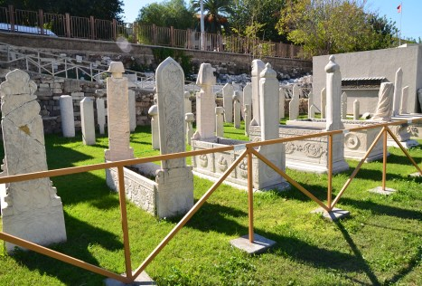 Ottoman graves at the Smyrna Agora in Izmir, Turkey