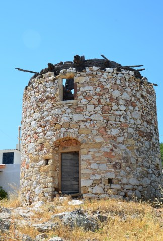 Windmill in Tholopotami, Chios, Greece