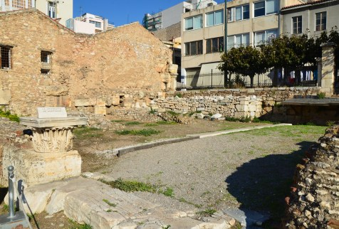 Amphitheatre at Hadrian's Library in Athens, Greece