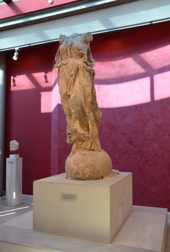 Statue of Nike at Hadrian's Library in Athens, Greece