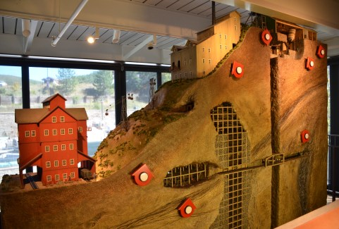 Model of a mine at the Park City Museum in Park City, Utah