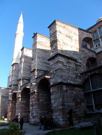 Buttresses at Hagia Sophia in Istanbul, Turkey