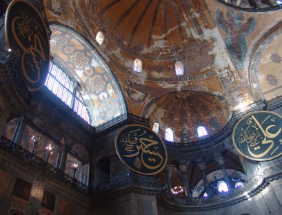 Partial domes at Hagia Sophia in Istanbul, Turkey