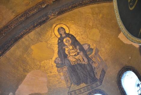 Apse at Hagia Sophia in Istanbul, Turkey