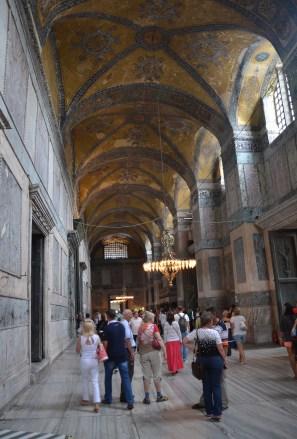 Narthex at Hagia Sophia in Istanbul, Turkey
